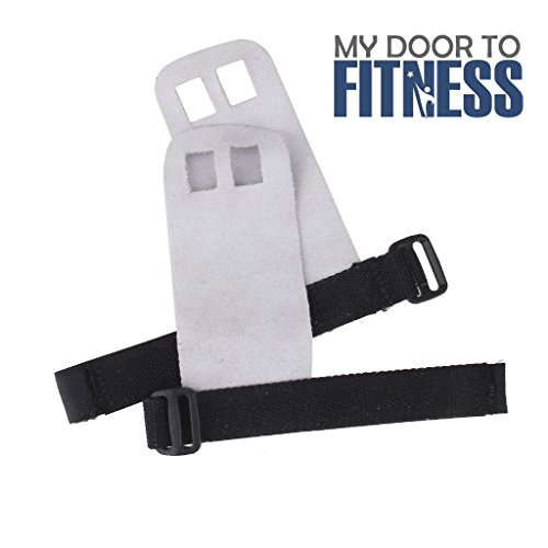 MY-DOOR-TO-FITNESS GYMNASTICS LEATHER HAND GRIPS FOR CROSSFIT, WEIGHT LIFTING AND FITNESS! (l)