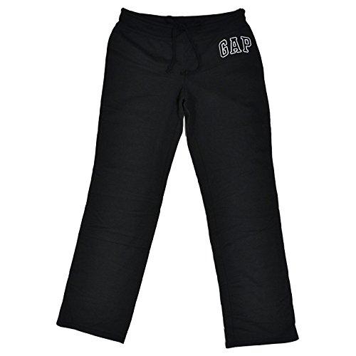Gap Womens Fleece Arch Logo Sweatpants (New Black, Small)