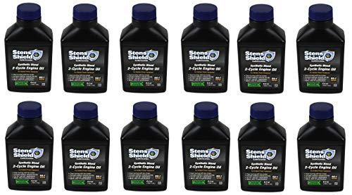 (Stens 770-642 Shield 2-Cycle Engine Oil, 50:1 Synthetic Blend, Pack Of 12)