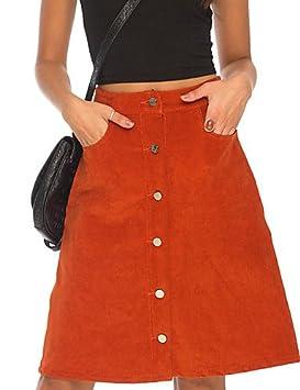 XH@G De las mujeres Faldas-Sobre la rodilla Vintage / Para Trabajo ...
