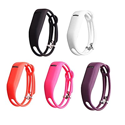 I-SMILE Colorful Replacement Bands with Metal Clasps for Fitbit Flex/Wireless Activity Bracelet Sport Wristband/Fitbit Flex Bracelet Sport Arm Band (No Tracker, Replacement Bands Only)