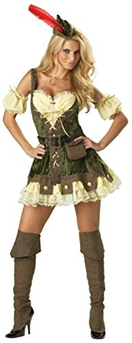 Incharacter Womens Sexy Racy Robinhood Elite Collection Theme Party Costume, XS (0-2)