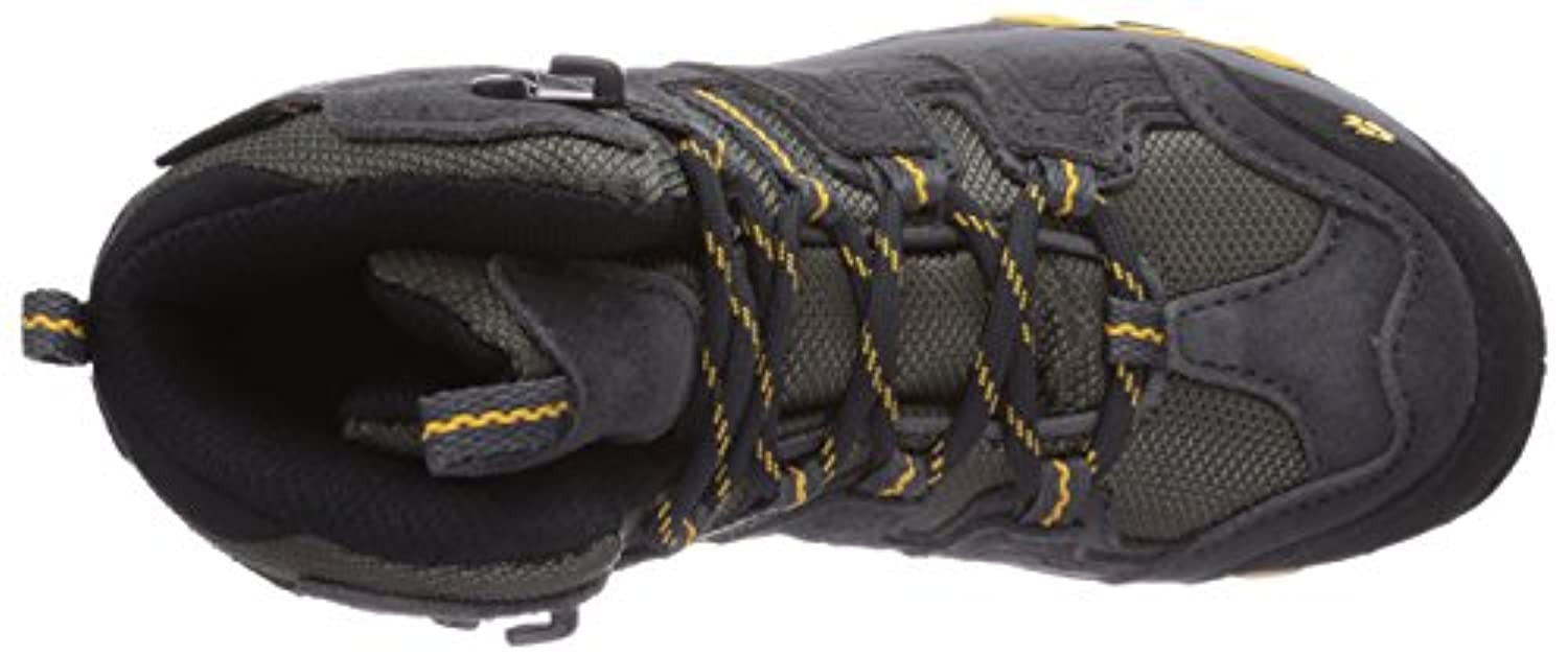 Jack Wolfskin Boys Mtn Attack Mid Texapore, Boys Trekking and Hiking Boots, Grey (Burly Yellow 3800), 1 UK
