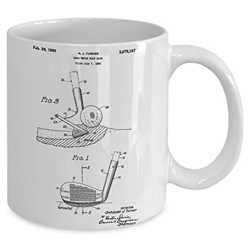 Golf Club Coffee Mug for Golf Fans Great Gift for Golfers 11 oz White Coffee Cup Great Idea Home - Sunglasses Instructions Mp3