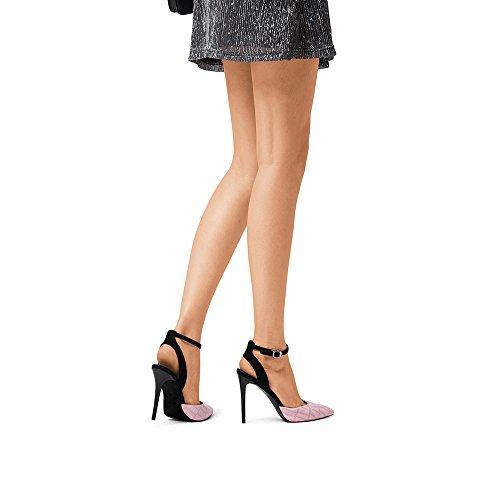 pour EU35 pointé fine Couleur et hauts à talon mariage travail bretelles Chaussures été 02 beige femmes NAN sandales rose confortable réglables talons 02 UK3 taille CN34 OPBq5nT
