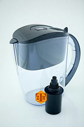 Wellblue Alkaline Black Water Filter Pitcher by Well Blue