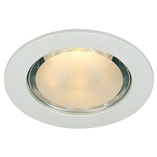Commercial Electric 4 in. White Shower Recessed Lighting Trim