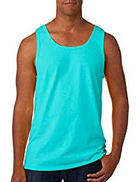 Men's Two Needle Hemmed Bottom Tank Top