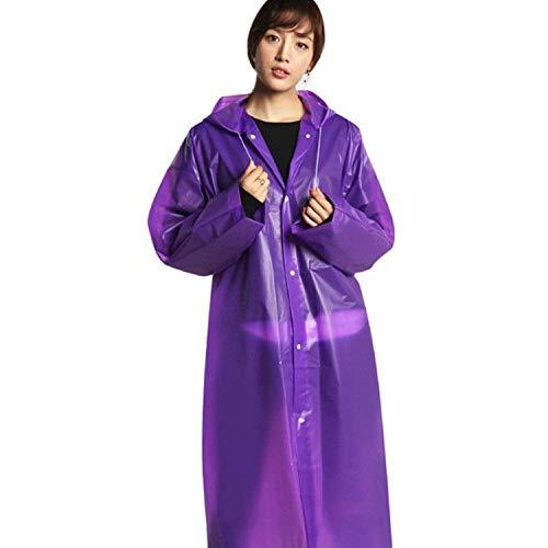 Monouso Monouso Impermeabile Impermeabile Impermeabile per Adulto Impermeabile Moda Impermeabile Esterno Turismo Portatile Ragazza Impermeabile Esterno per Adulto per Eva per Purple rn5XHR5