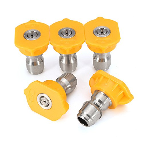 Hitommy 5pcs 15 Degree Yellow Spray Tips Set High Pressure Washer Nozzle Spray Tips