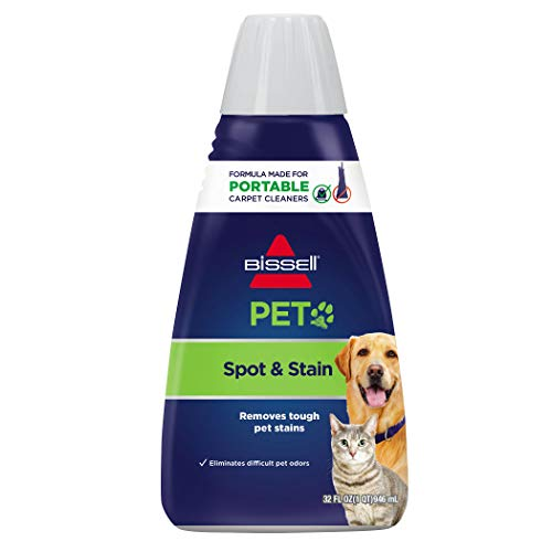 Carpet Urine Pet Cleaning (BISSELL 2X Pet Stain & Odor Portable Machine Formula, 32 ounces, 74R7)