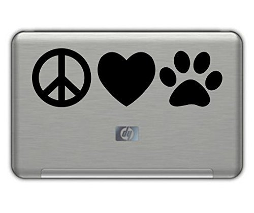 focenterprises-peace-love-dog-paw-vinyl-decal-3x7-black-rescue-pound-puppy-sticker