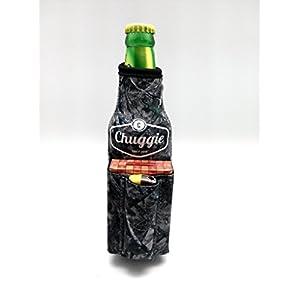 Beer Bottle Coolie With Bottle Opener And Cigarette And Lighter Holder (Camo)