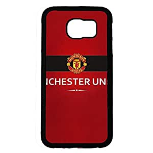 Samsung Galaxy S6 Case,Manchester United Football Club Protective Phone Case Black Hard Plastic Case Cover For Samsung Galaxy S6