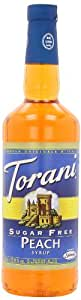 Torani Sugar Free Syrup, Peach, 33.8 Ounce  (Pack of 3)