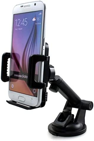 2017 Premium Car Mount Dash-board Windshield Cradle Holder Window Rotating Dock Strong Grip Suction Cup for Verizon Samsung Galaxy J3 Mission Eclipse Verizon Samsung Galaxy J7 V