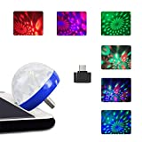 Sound Activated Party Lights, Tuscom Mini RBG Disco Ball Light, Colorful Strobe Lamp, Stage Par Light, USB Party Light, Stage Light for Dance Parties Birthday DJ Bar Karaoke Xmas Wedding (Blue)