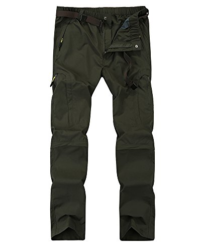 Men's Quick Dry Convertible Cargo Pant #6601,Army Green,36