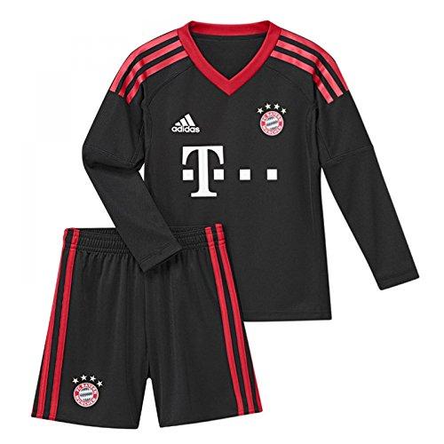 Adidas Goalkeeper Kit (2017-2018 Bayern Munich Adidas Home Goalkeeper Mini Kit)