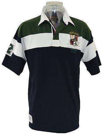 Azul Marino Camiseta de Rugby de Irlanda de Manga Corta para (s ...