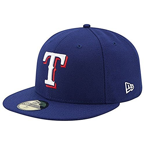 59fifty Field Game - New Era 59FIFTY Texas Rangers MLB 2017 Authentic Collection On-Field Game Fitted Cap,Dark Blue,7.625