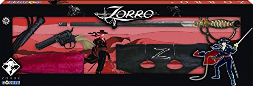 Gohner El Zorro Playset with Revolver 8-Shots Sword Zorro Mask and Stylish Whip