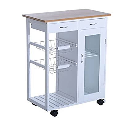 kitchen cart with drawers Amazon.  Hom34
