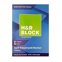 H&R Block Premium 2018 software fiscal para propietarios de propiedades, autoempleado/alquiler, disco tradicional