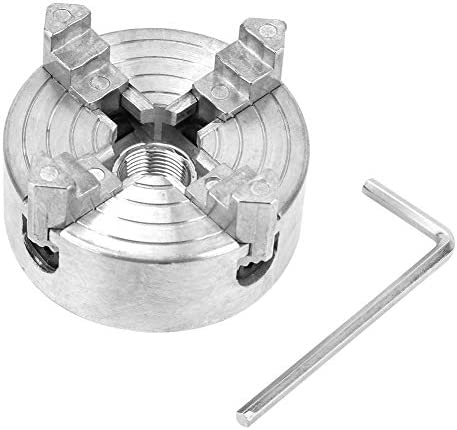 4爪旋盤チャック、Z011A亜鉛合金ミニ金属旋盤用4爪チャッククランプアクセサリ