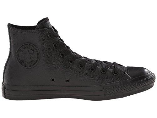 Converse Hi Top Leather Black Mono 3.5 (Converse Leather Shoes Black)