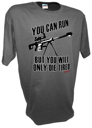 Men's 50 Caliber Sniper Rifle M82A1 M-107 Pro Gun Military Spec-Ops US Army Combat T Shirt By Achtung T Shirt LLC