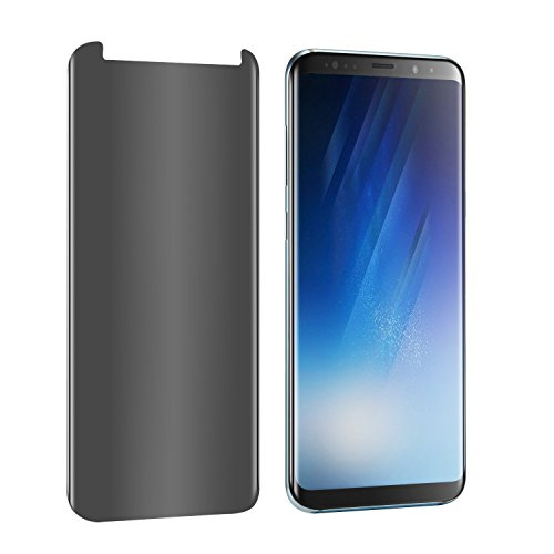 LEDitBe Samsung Galaxy S8 Screen Protector Privacy Anti-Spy,[3D Curved][Easy to Install][Anti-Scratch][No Bubble][9H Hardness] Privacy Anti-Peep Tempered Glass Screen Protector for Galaxy S8 by LEDitBe (Image #1)