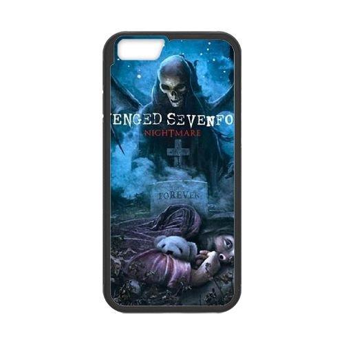 Avenged Sevenfold Black coque iPhone 6 Plus 5.5 Inch Housse téléphone Noir de couverture de cas coque EBDOBCKCO12813