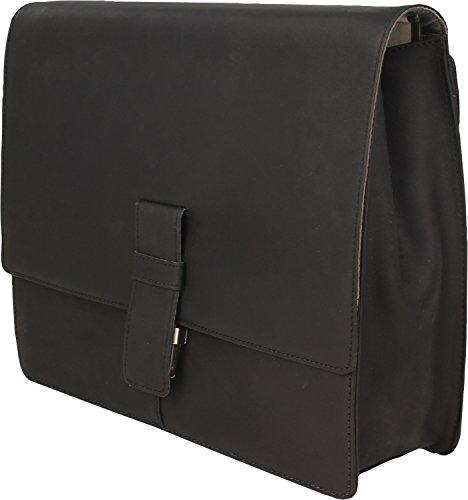 Harolds Toro borsa a tracolla pelle 36 cm marrone scuro nero