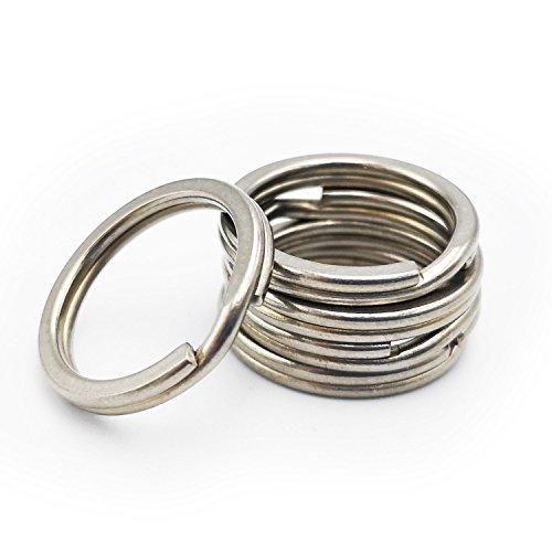 Haxtec Titanium Key Rings Durable Tight Split Rings for Large Capacity Key Holders Customization Pack of 5 (18mm Ti)