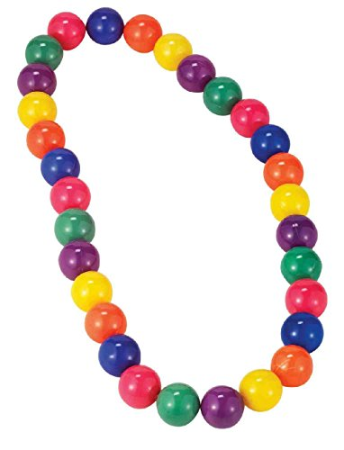 Circus Dance Costume - Circus Sweetie Colorful Beads Multi Color Clown Necklace Costume Accessory