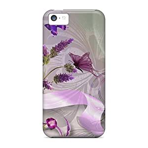 Hard Plastic Iphone 5c Case Back Cover,hot Lavender Lovely Case At Perfect Diy