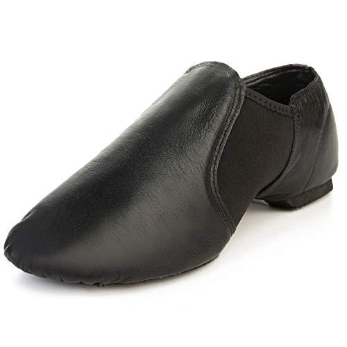 Centipede Demon Leather Upper Jazz Shoes for Men Black 13 M -