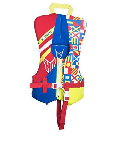 Infant Neo Vest (HO Sports 2019 Toddler Pursuit Neo Ski Wakeboard Wakesurf Vest Jacket Blue/Red/Yellow)