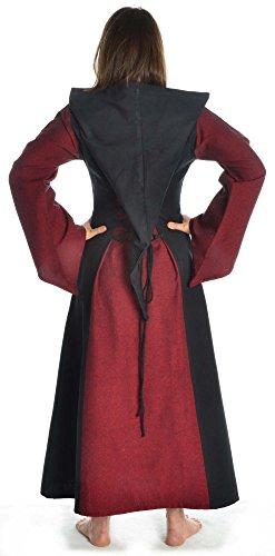 XL grün mit blau S Gugel Kleid HEMAD weiß Mittelalter Schnüren Dunkelrot braun schwarz zum rot Damen fn6qRBw