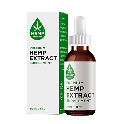 Hemp Theory Hemp Extract Supplement with 600 mg of Full Spectrum Hemp Extract (Contains NO CBD) for Pain Relief, Anti Anxiety, Stress Relief and Sleep