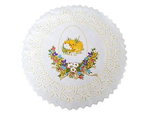 (Polish Traditional Easter Doily Basket Cover (Chicks))
