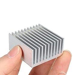 Nrthtri smt 10pcs 40x40x20mm Aluminum Heat Sink Heat Sink for CPU LED Power Cooling Eater