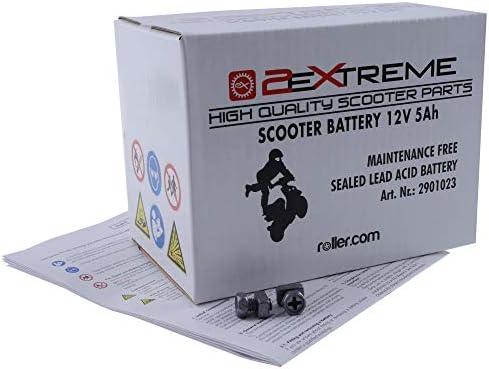 2extreme 5ah 12 Volt Batterie Wartungsfrei Inklusive 7 50 Batteriepfand Kompatibel Für Yamaha Aerox 100 Auto