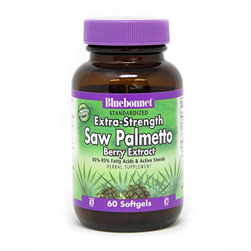 BlueBonnet Extra Strength Saw Palmetto Berry Extract Supplement, 60 Count