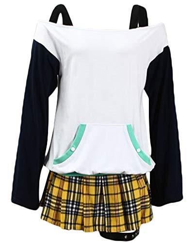 DAZCOS Adult US Size Anime Mizore Shirayuki Shirt Skirt Cosplay Costume (Women M) White,Yellow -