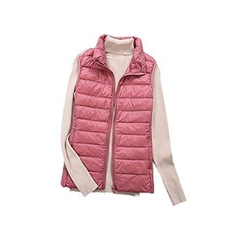 HONGBI Women's Packable Lightweight Down Vest Body Warmer Winter Down Waistcoat Down Puffer Gilet Vest Waterproof… 2