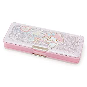 SANRIO!! Character 2017 Fabulous Double Compartment Magnetic Pencil Case with Sharpener Japan Exclusive (My Melody Pink)