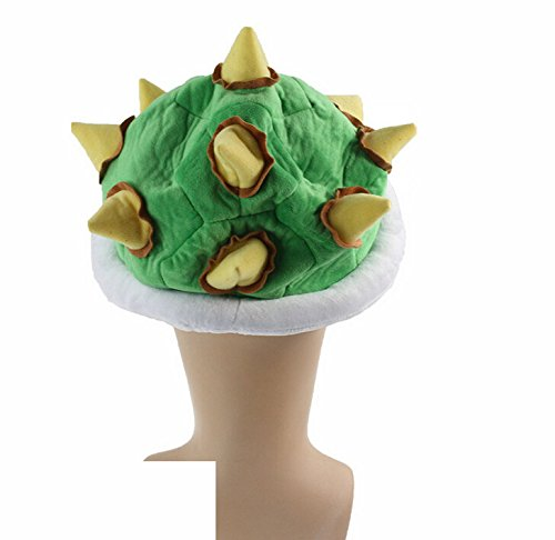 Super Mario Bros Koopa Bowser Jr. Soft Plush Hat Cosplay Costume Cap Green Adults Gifts Toy Unisex Perimeter About 65cm / 26 inch by AThiToZone Cap (Image #2)