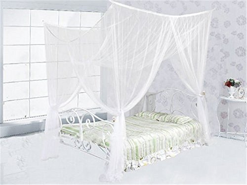 Fantastic Deal! Yanglovele 4 Corner Post Bed Canopy Mosquito Net Full Queen King Size Netting Beddin...